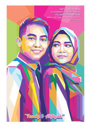 Couple WPAP POP ART by opparudy