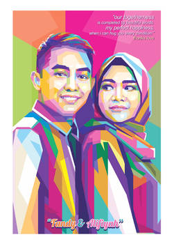 Couple WPAP POP ART