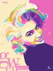 Gwen Stefani Popart Portrait by opparudy