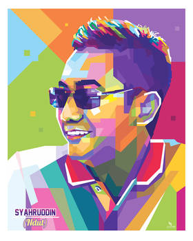 a Man at WPAP popart by. @opparudy