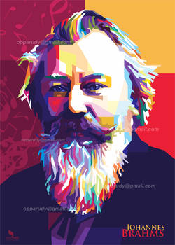 Johannes Brahms Pop Art