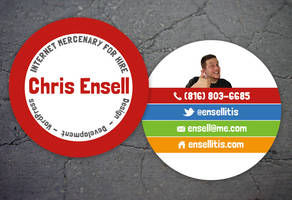 My new business cards