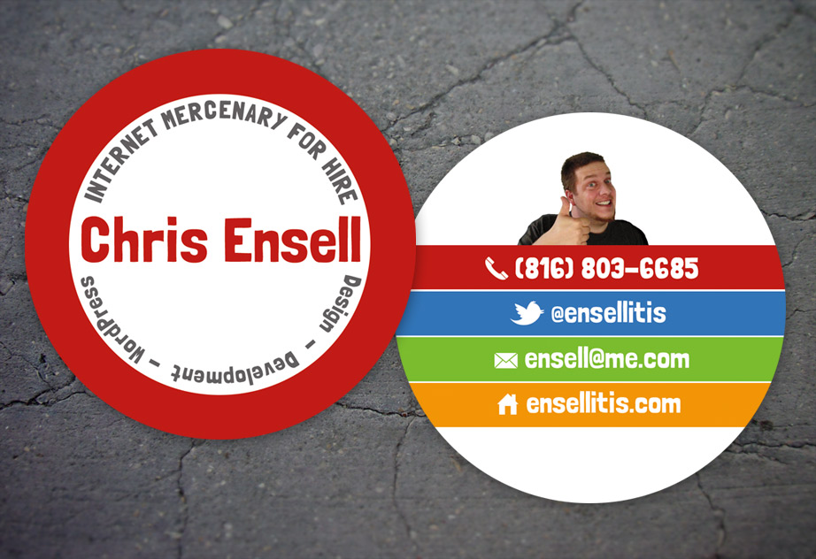 My new business cards by ensellitis