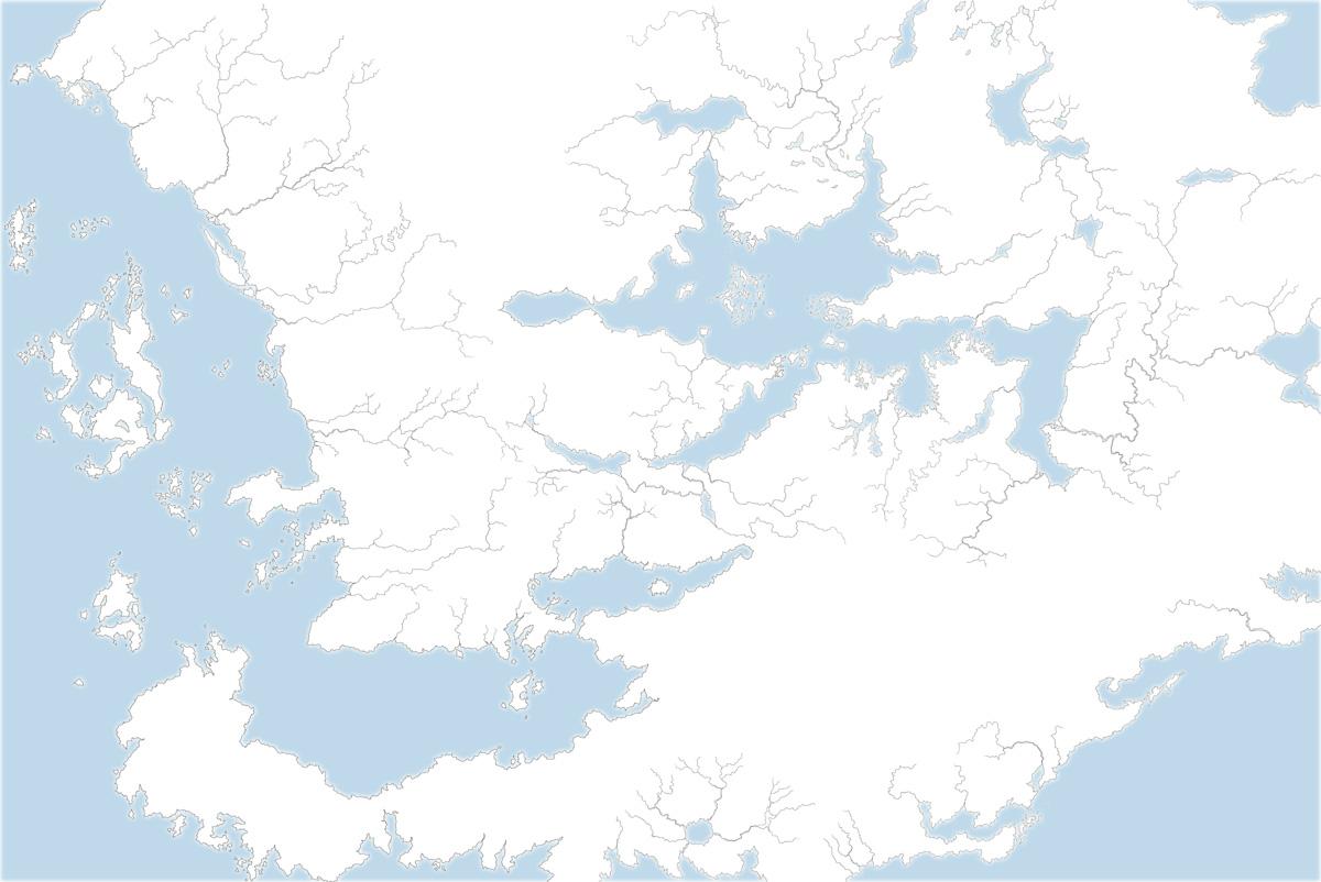Unlabeled map of faerun?