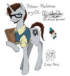 Professor Maelstrom, Pony OC (colour version)