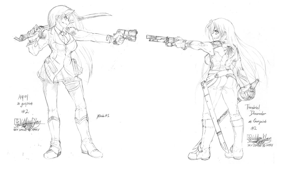 At Gunpoint Redone: Tia and Seoyuri by meto30