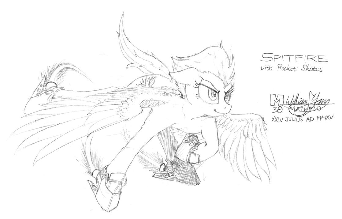 Spitfire with Rocket Skates sketch by meto30
