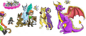Spyro doodles by Tundris