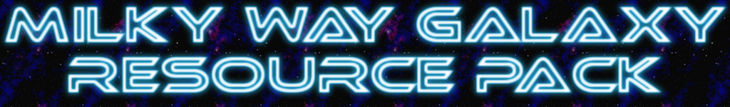 Milkyway Galaxy Resource Pack Logo by Raysss
