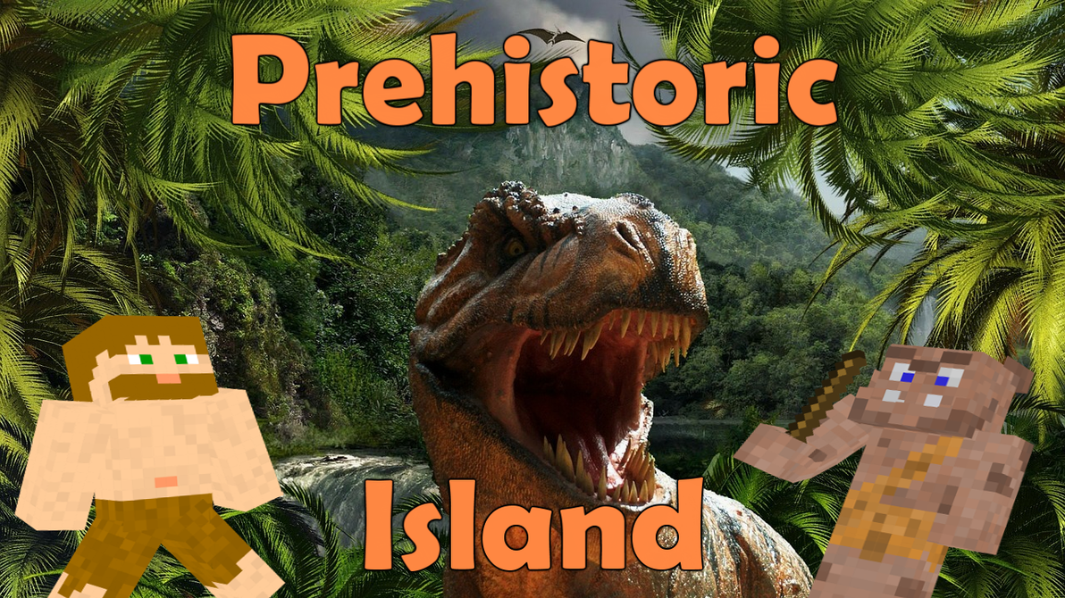 Prehistoric Island Map Banner by Raysss