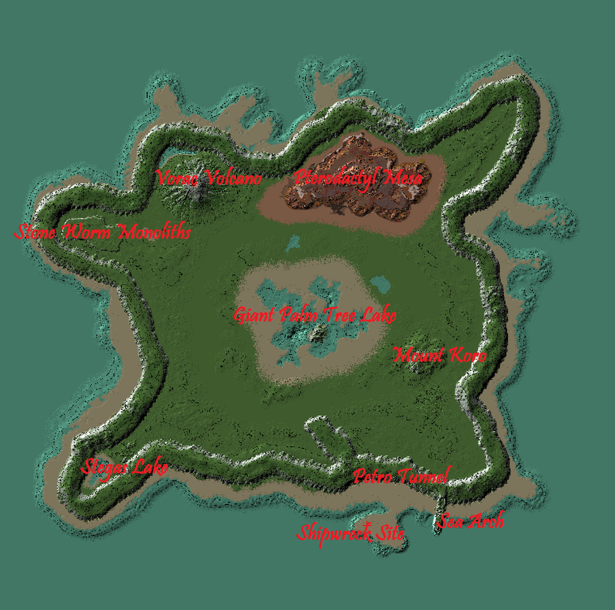 Prehistoric Island Map by Raysss