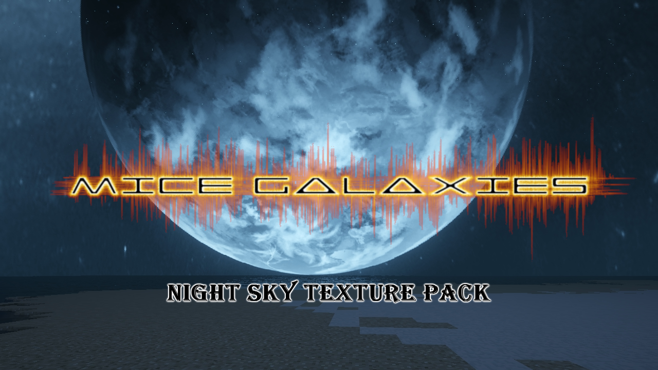 Mice Galaxies Minecraft Texture Pack Logo by Raysss