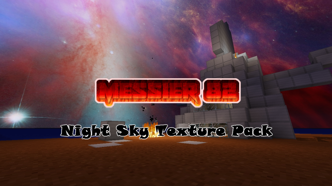 Messier 82 Minecraft Texture Pack Logo by Raysss
