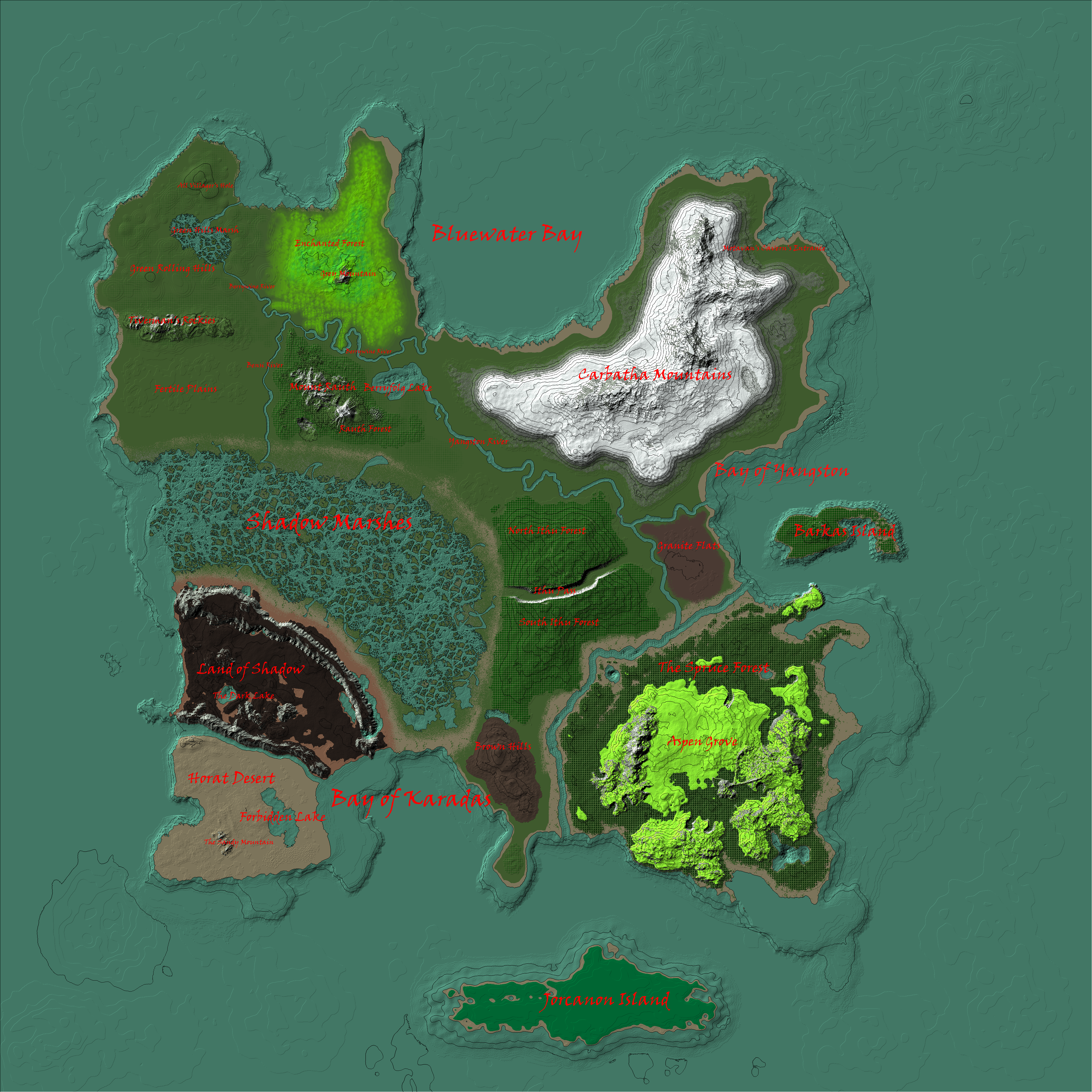 The Three Harbors: Lord of the Rings Inspired Map by Raysss