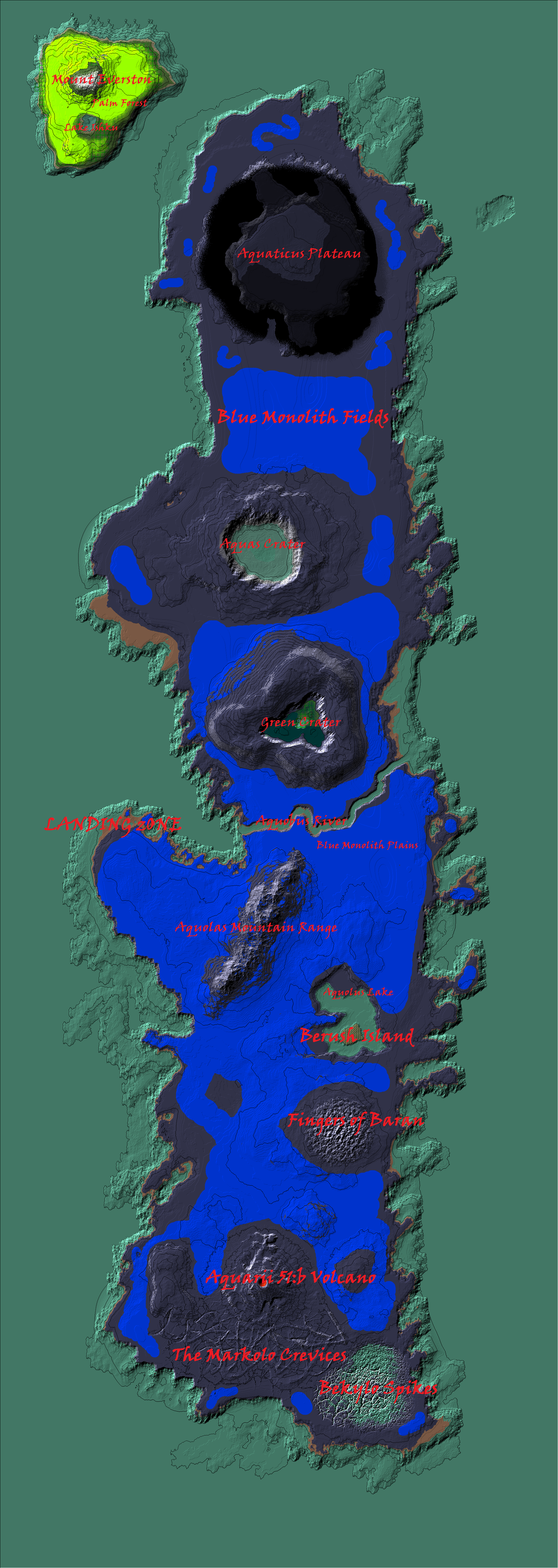 Aquarii 51 Survival Map by Raysss