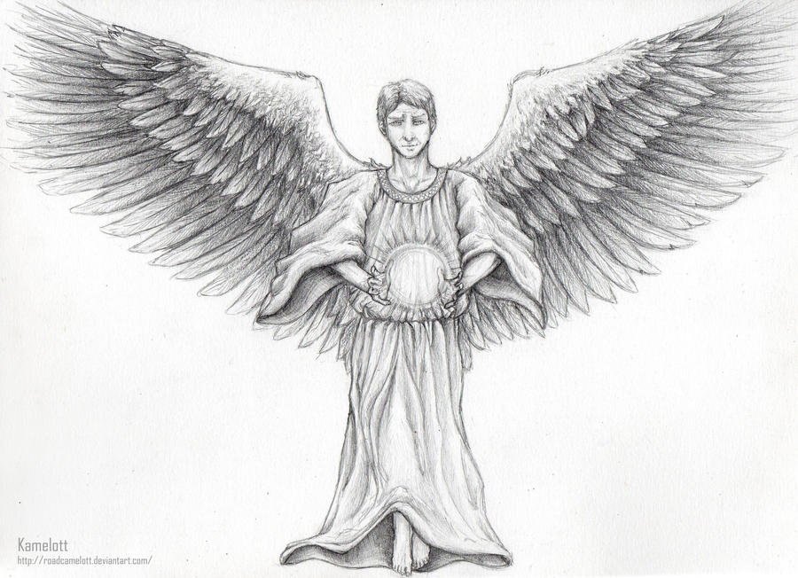 The gallery for --> Guardian Angel Drawing