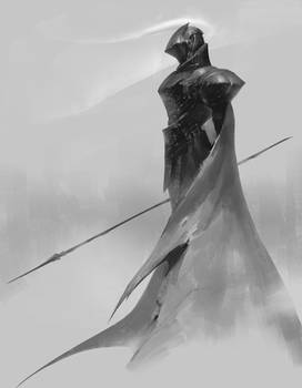 Knight in the mist.