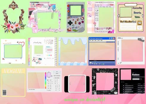 Random/Cute PNG Frames for edits @miwqua