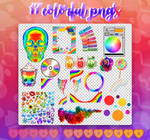 RAINBOW/COLORFUL PNG PACK + textures by miwqua