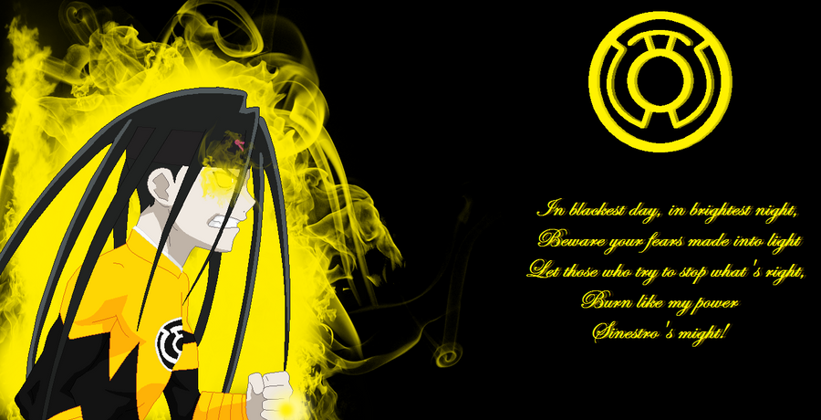 Yellow lantern oath wallpaper