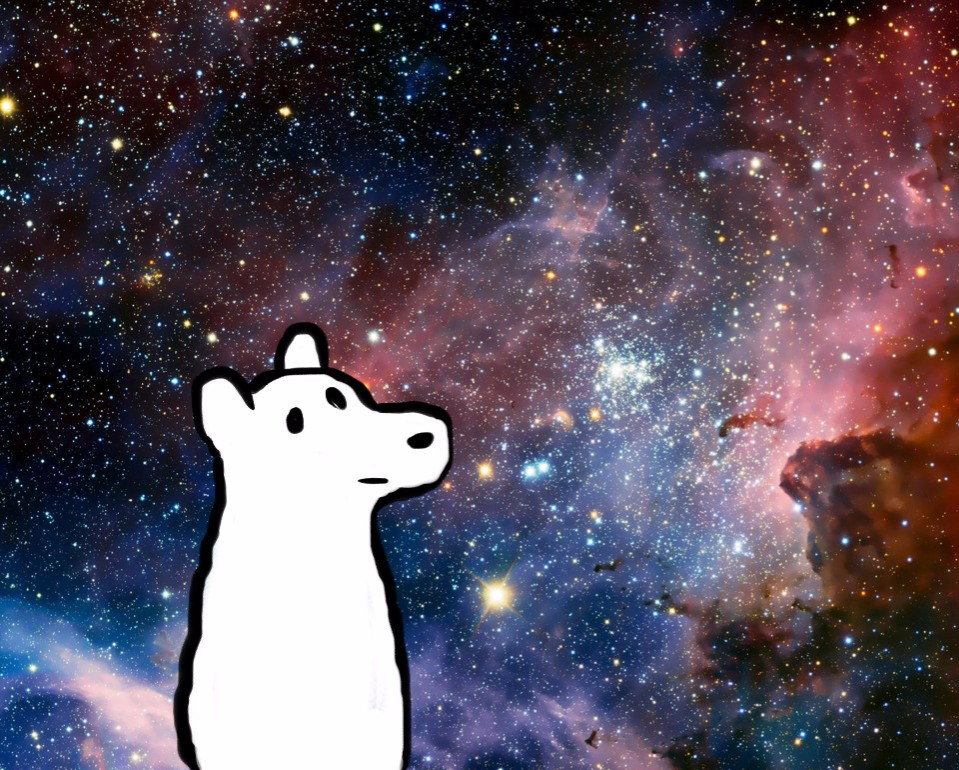 Icebear In Space (cropped version) by Revenir-Ghoul