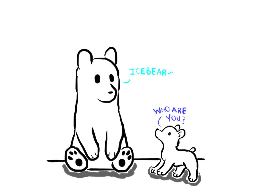 Icebear and Kumajiro by Revenir-Ghoul