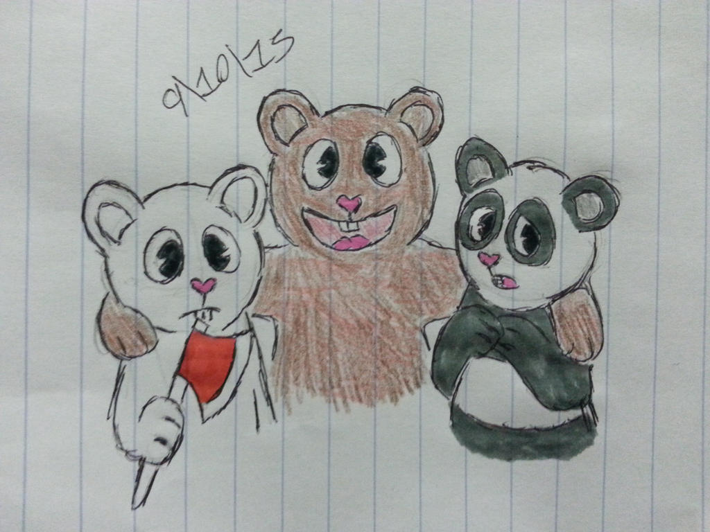 We Bare Bears/Happy Tree Friends crossover by Revenir-Ghoul