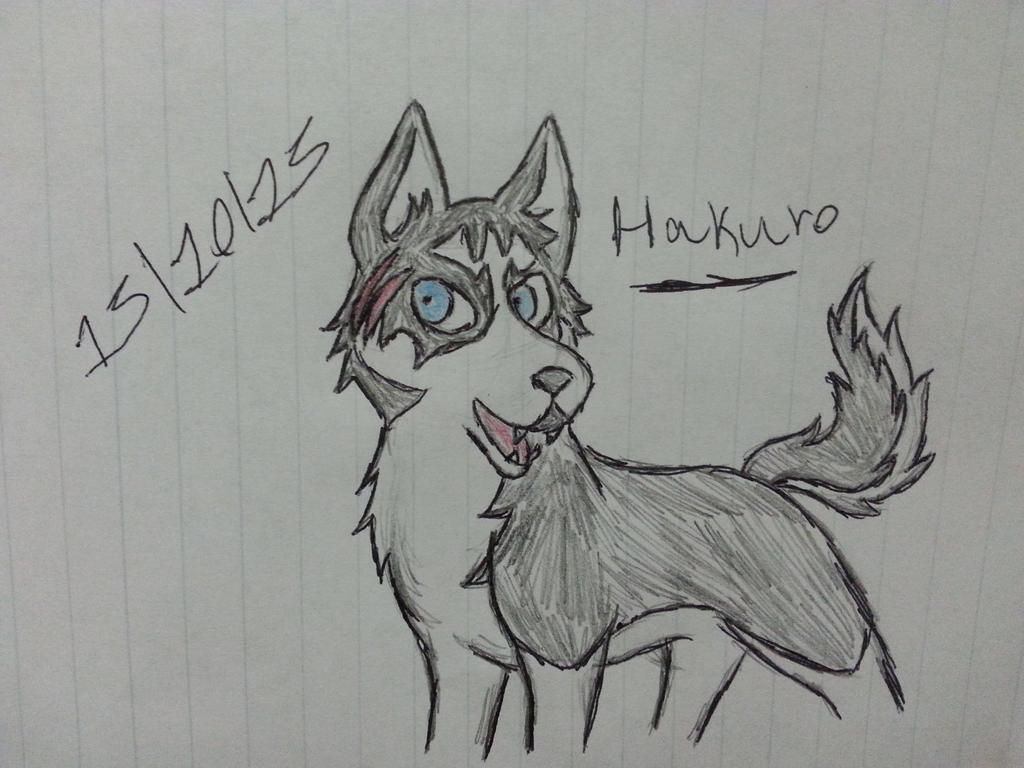 (Inktober Day Five) Hakuro from Silver Fang by Revenir-Ghoul
