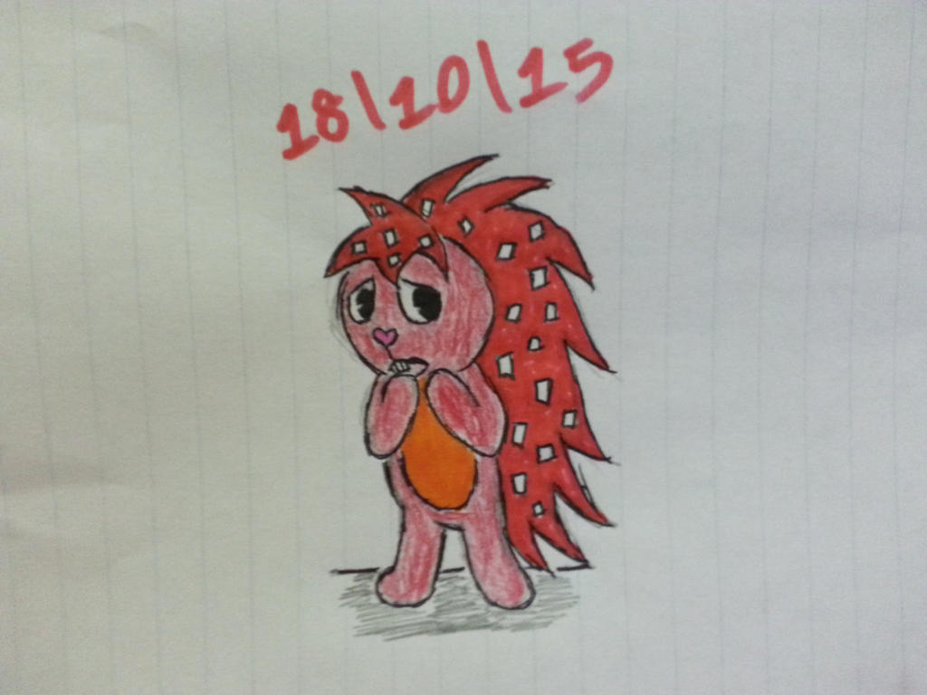 (Inktober Day Seven *late*) Flaky from HTF by Revenir-Ghoul