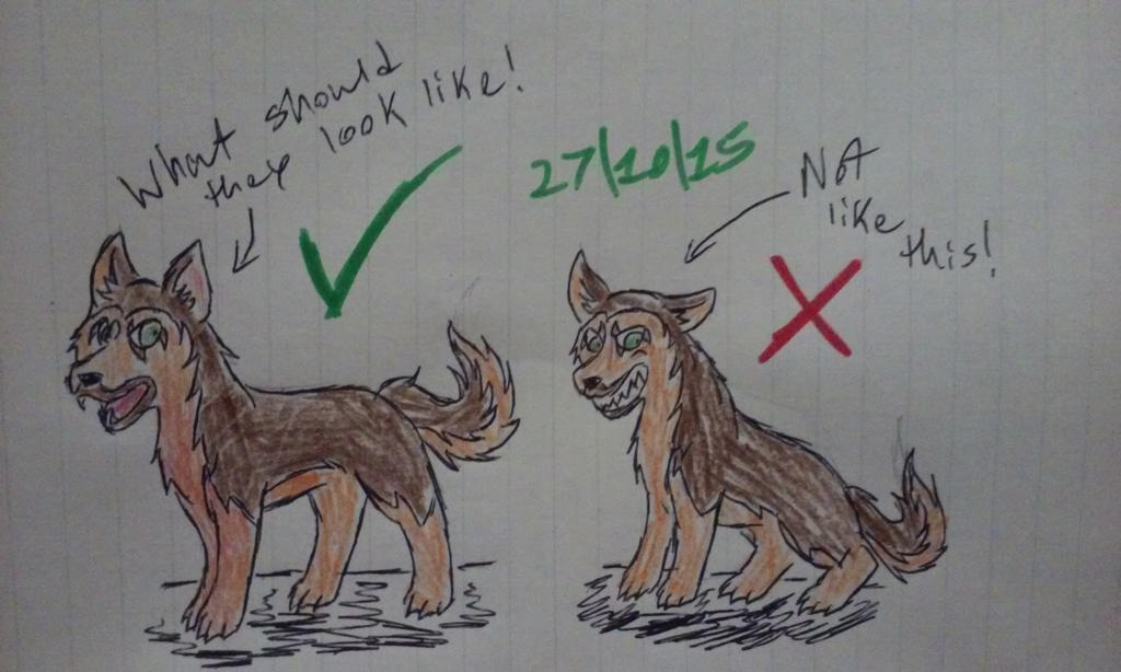 The Original GSD Vs. The New GSD (Small rant) by Revenir-Ghoul