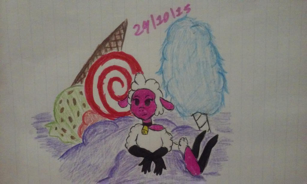 Leggy Lamb in Candyland by Revenir-Ghoul