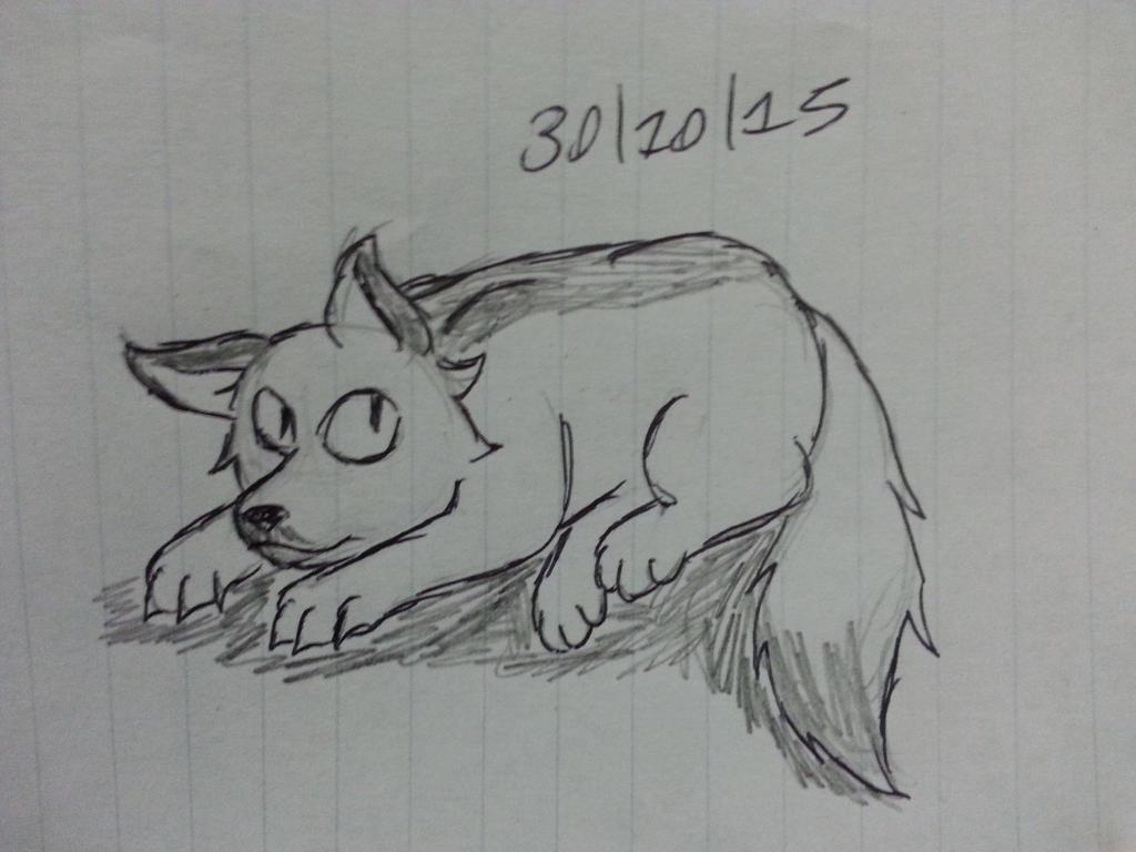 (Inktober Day 20 *late again*) Bored fox by Revenir-Ghoul