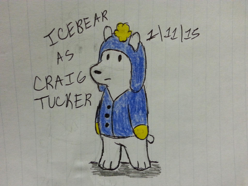 Icebear as Craig Tucker from South Park by Revenir-Ghoul