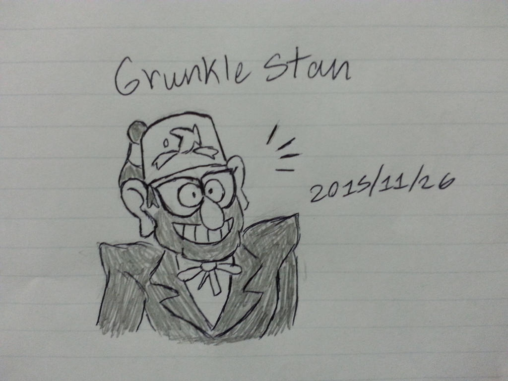 Grunkle Stan First Drawing by Revenir-Ghoul