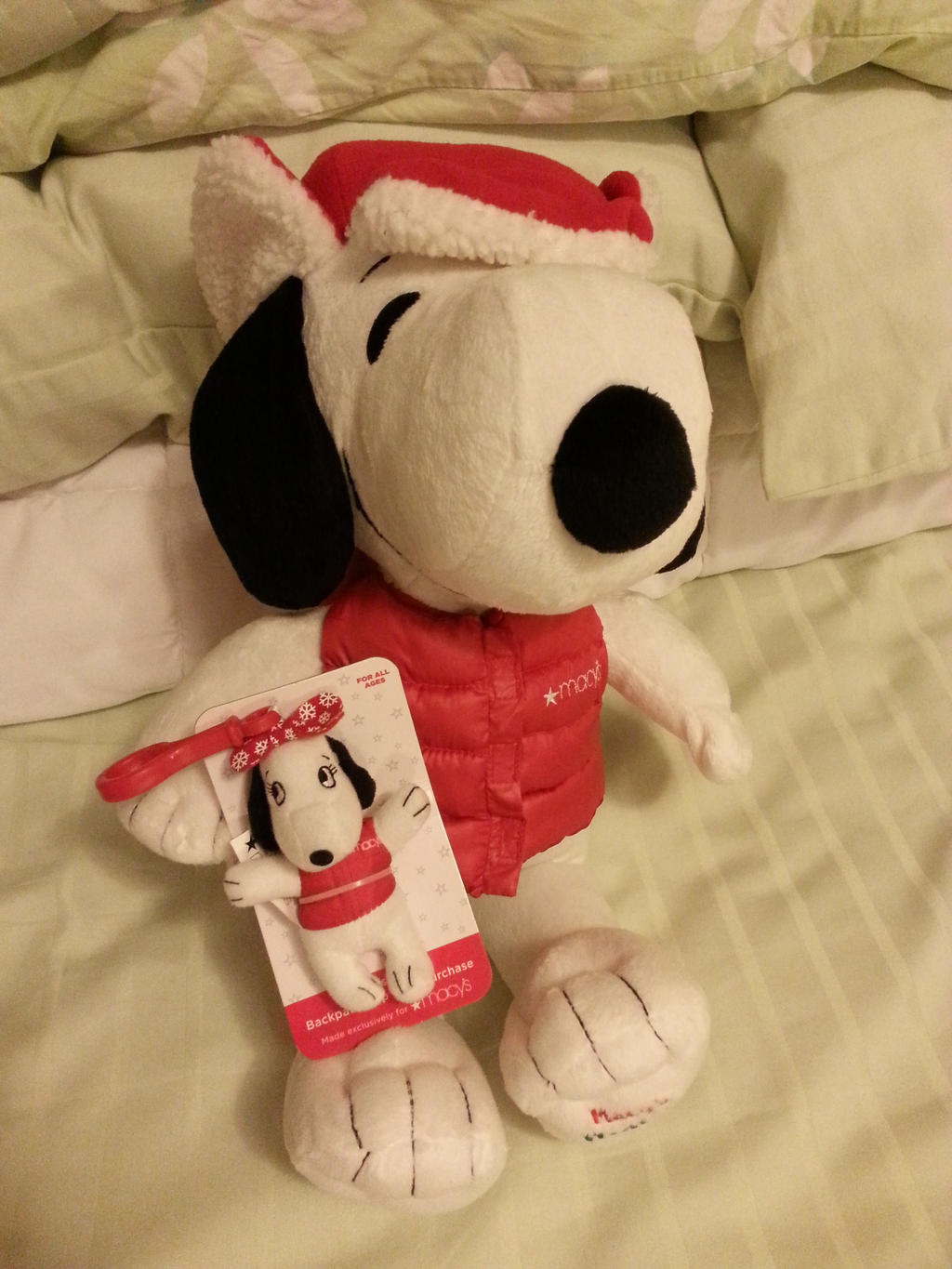 Snoopy and Belle plushies by Revenir-Ghoul
