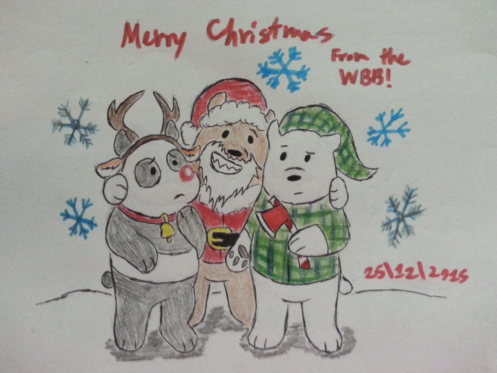 Merry Christmas From The We Bare Bears 2015!! by Revenir-Ghoul