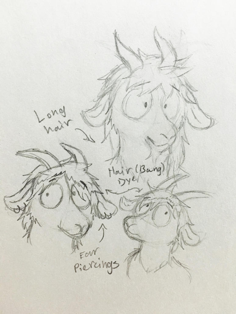 Goatsona dooldes and possible new designs. by Revenir-Ghoul