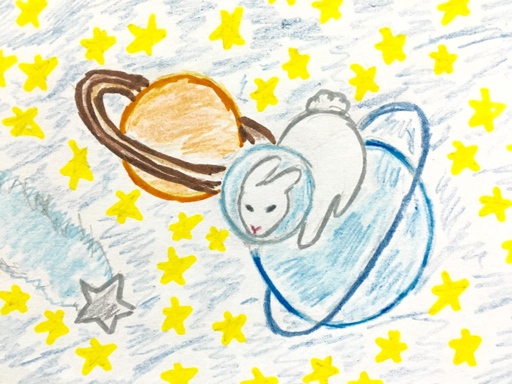 Bunny In Space by Revenir-Ghoul
