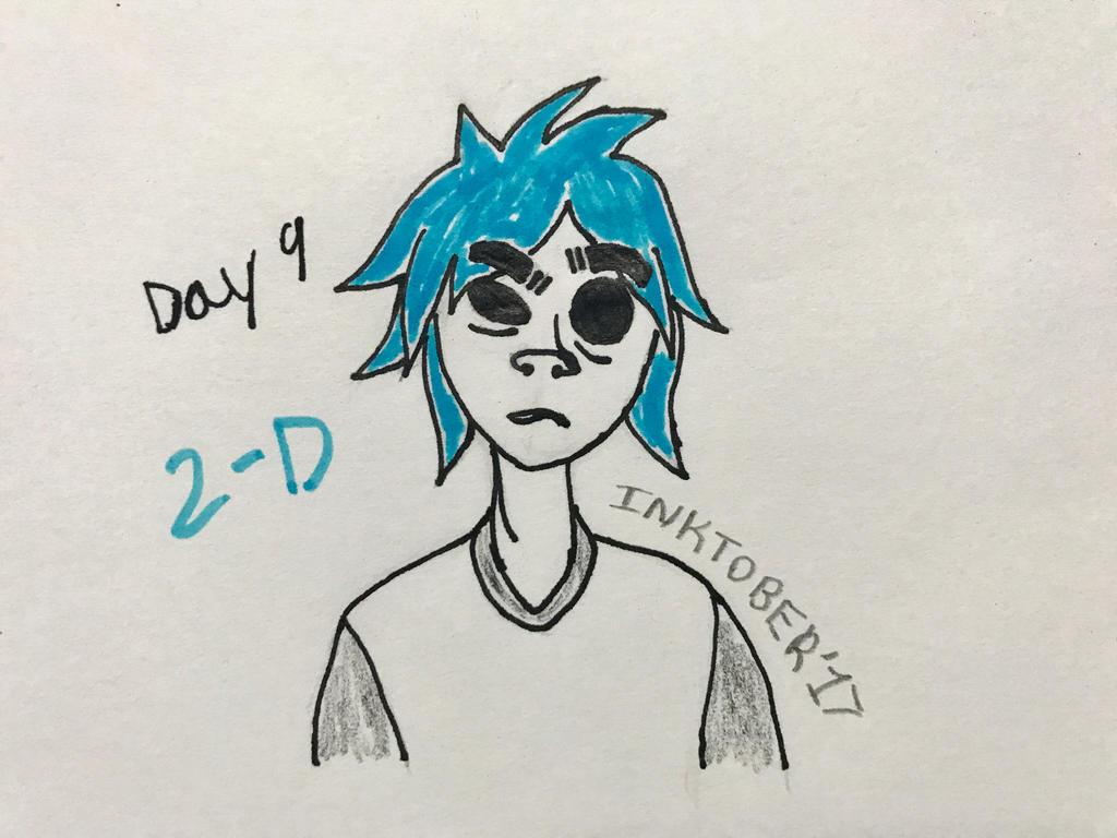 Inktober Day 9- 2-D by Revenir-Ghoul