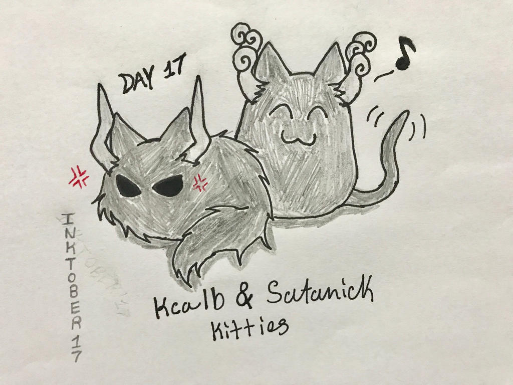 Inktober Day 17- Kitties of Okegom by Revenir-Ghoul