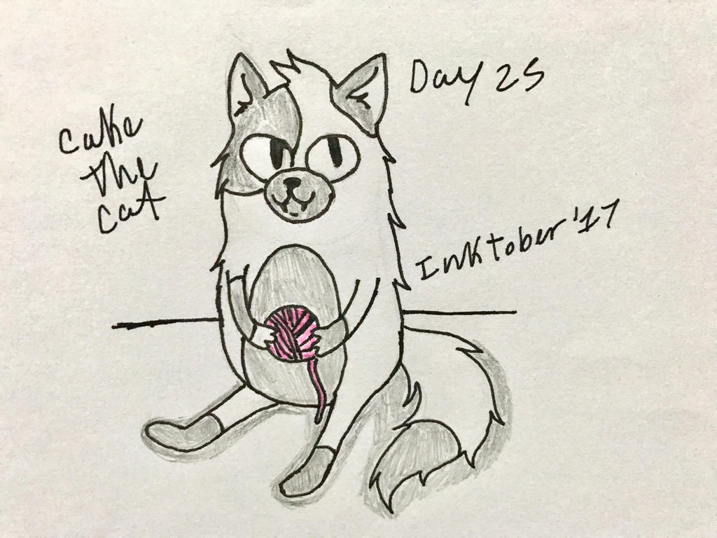 Inktober Day 25- Cake The Cat by Revenir-Ghoul