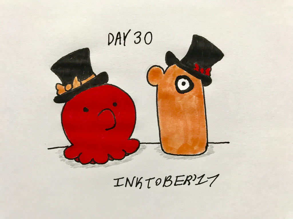 Inktober Day 30- Top Hats by Revenir-Ghoul