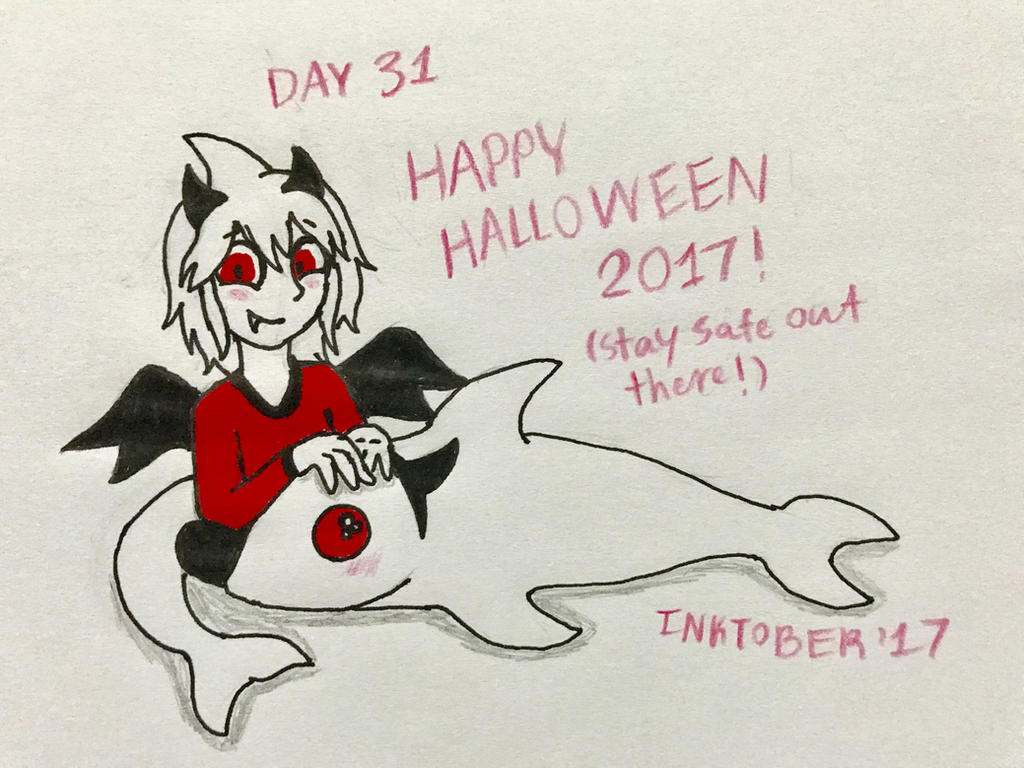 Inktober Day 31- Happy Halloween! by Revenir-Ghoul