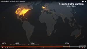 UFO visits map by leadbirdie