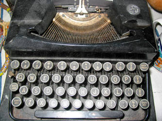 typewriter 2 by bluecanarystock