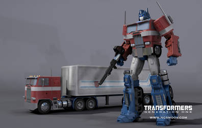 OPTIMUS PRIME - G1 inspired 3d by rando3d