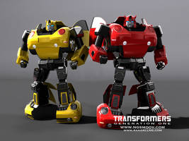 Bumblebee and Cliffjumper OG1 by rando3d