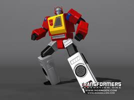 Autobot Blaster G1 by rando3d