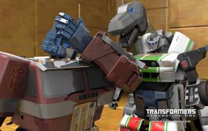 Transformers Prime facepalm by rando3d
