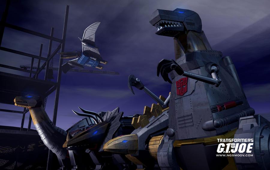 G1Joe 2012 Dinobots by rando3d